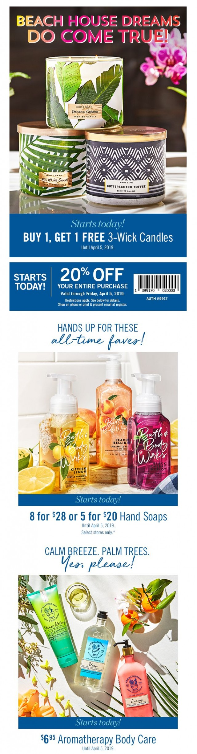 Coupon for: Bath & Body Works Canada - The candle you've been eyeing is FREE!