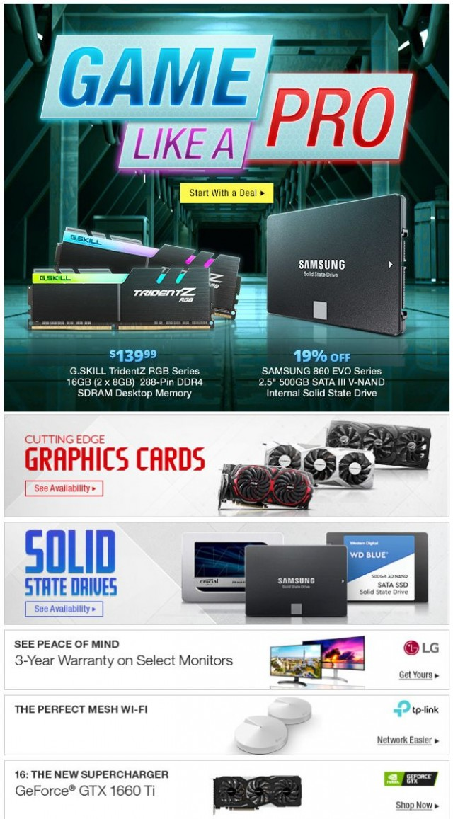 Coupon for: Newegg - Game Like a Pro (And Save Like an MVP!)