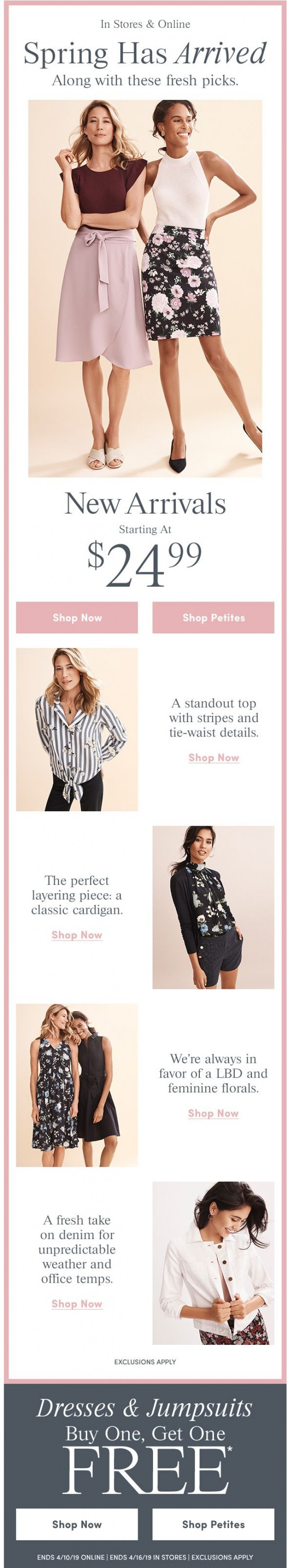 Coupon for: Ann Taylor Factory - Fresh Picks For Spring, Starting At $24.99