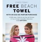 Coupon for: Victoria's Secret - FREE BEACH TOWEL