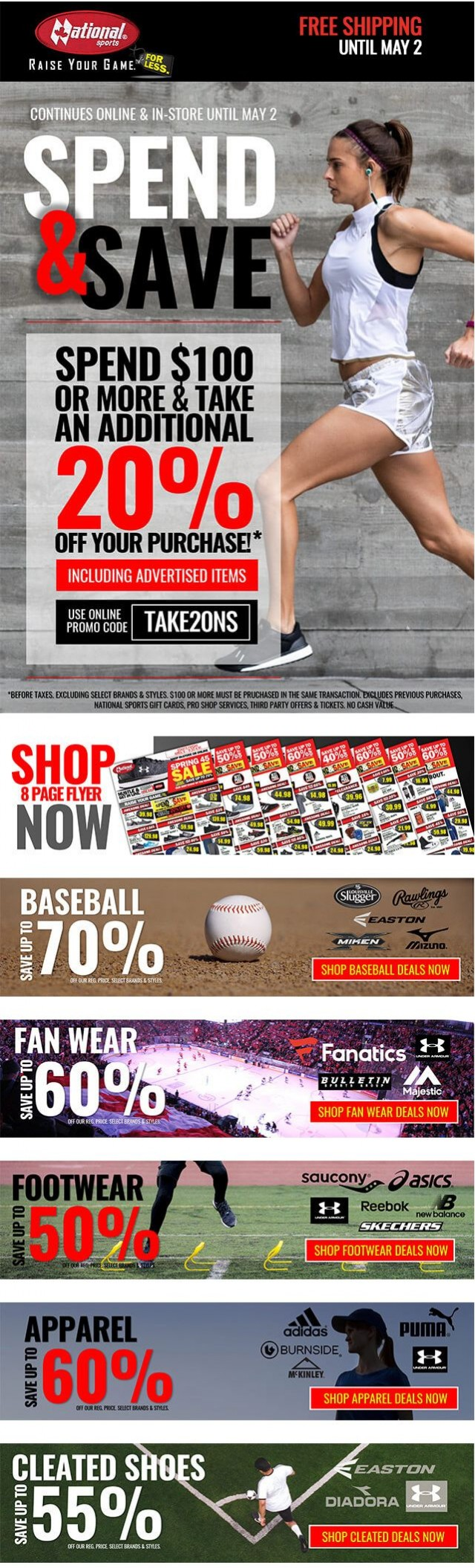Coupon for: National sports - Spend & Save Event