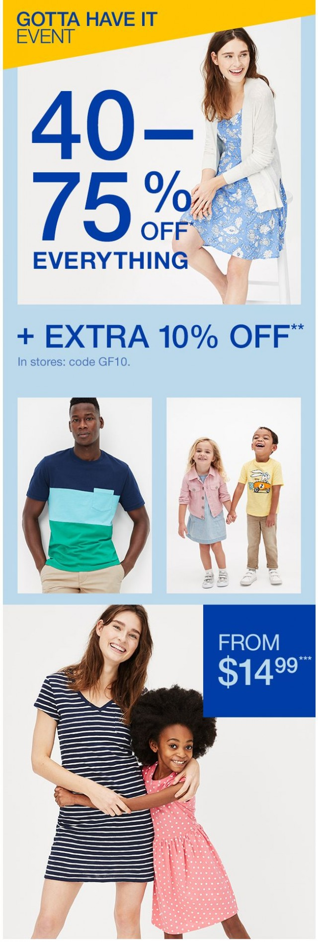 Coupon for: Gap Factory Canada - HOP TO IT