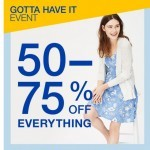 Coupon for: Gap - Everything's 50-75% off—including these Gap logo styles