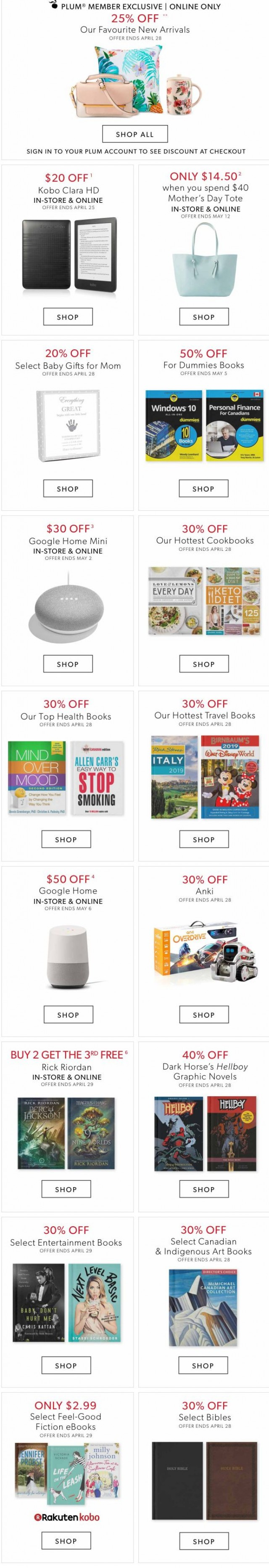 Coupon for: Indigo | Chapters - This Week's Not To Be Missed Deals Online