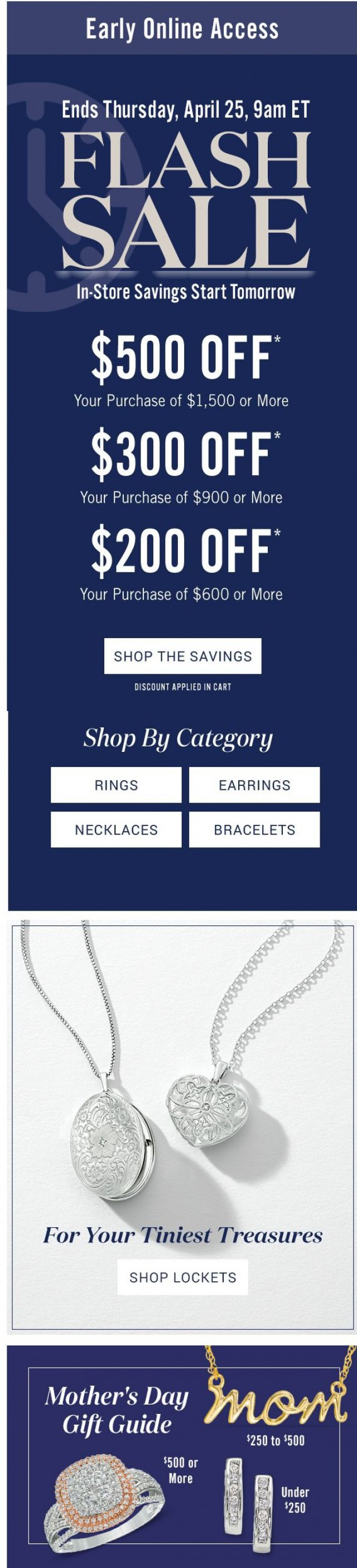 Coupon for: Peoples Jewellers - Early Online Access: Flash Sale Savings Up to $500