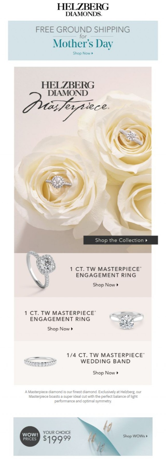 Coupon for: Helzberg Diamonds - Our Finest Diamond: Helzberg Diamond Masterpiece