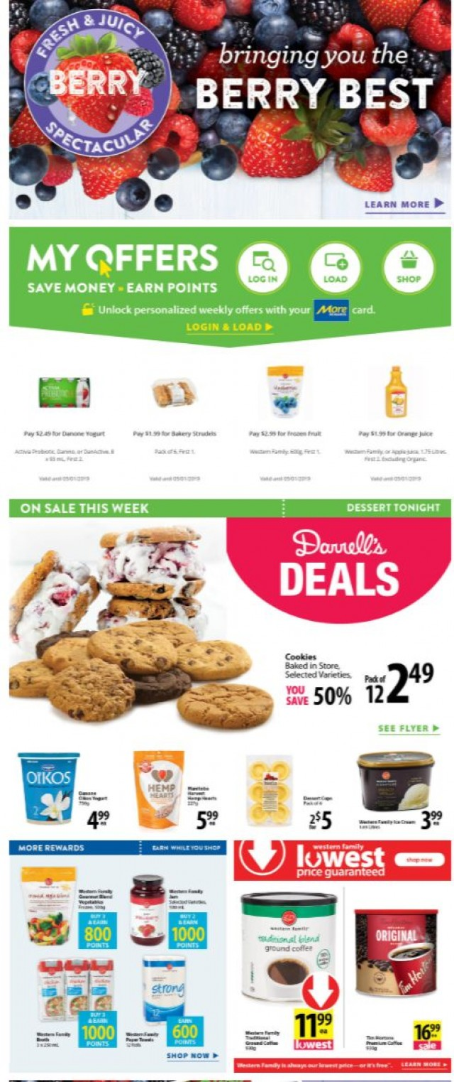 Coupon for: Save-On-Foods - Bringing you the berry best savings!