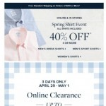 Coupon for: Brooks Brothers - Up to 70% off when you take an extra 25% off