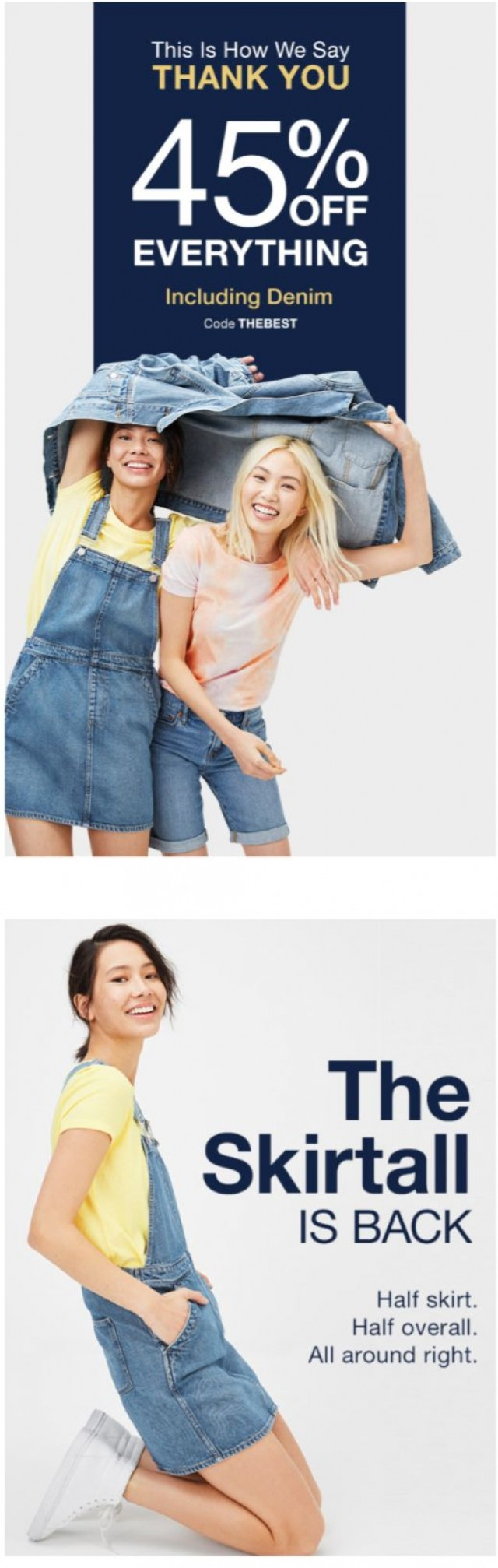 Coupon for: Gap - your 45% off code