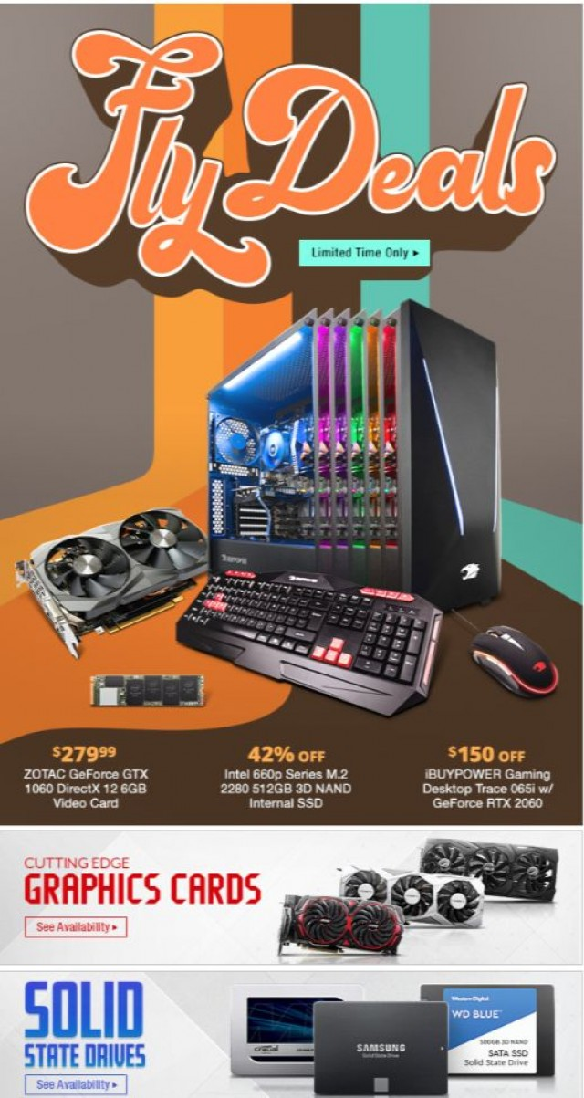 Coupon for: Newegg - Fly Deals on Great Tech