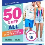 Coupon for: Old Navy - F I F T Y percent OFF *these* (it's totally SALE-SATIONAL)