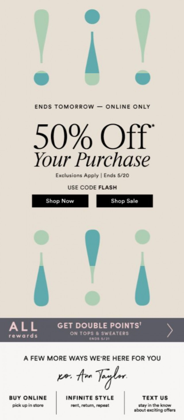 Coupon for: Ann Taylor - This Sale Will Be Gone In A Flash