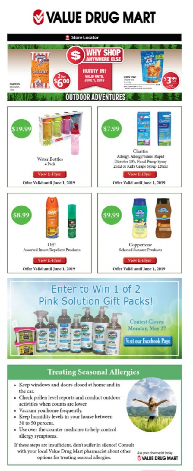 Coupon for: Value Drug Mart - Enter Our Facebook Contest!