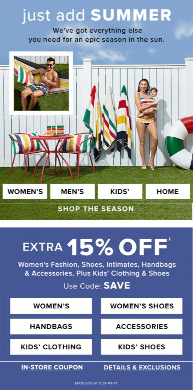 Coupon for: Hudson's Bay - Just add SUMMER: Everything you need for an epic season