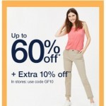 Coupon for: Gap - ENTIRE STORE. UP TO 60% OFF.