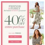 Coupon for: TALBOTS - Friends, our hottest EVENT just started!