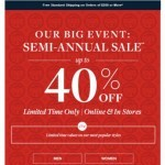 Coupon for: Brooks Brothers - Limited time only: Up to 40% off at Semi-Annual Sale