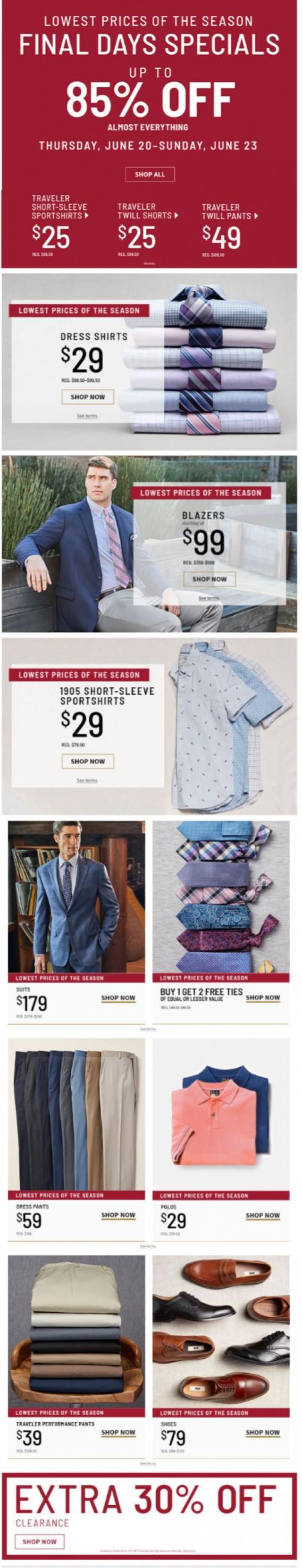 Coupon for: Jos. A. Bank - $29 Dress Shirts & Sportshirts
