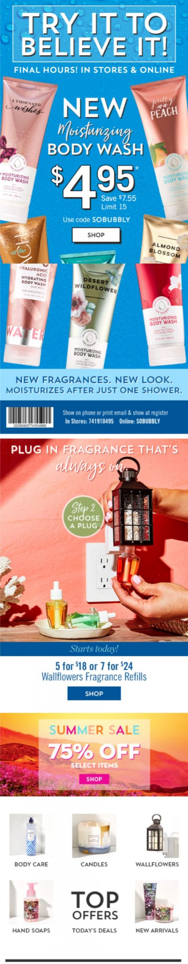 Coupon for: Bath & Body Works - alert! alert! one day only ENDS ➡️ so soon