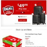 Coupon for: Staples - Save BIG on Luggage - 1 Week Only