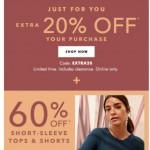 Coupon for: Banana Republic Factory - SUMMER SALE on tops & shorts