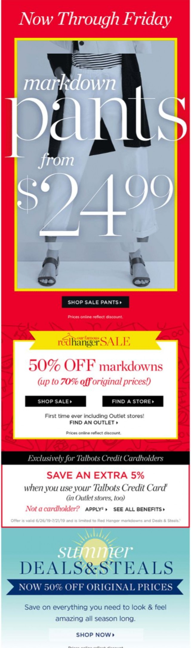 Coupon for: Talbots - Now 50% off SALE! | $24.99 Pants