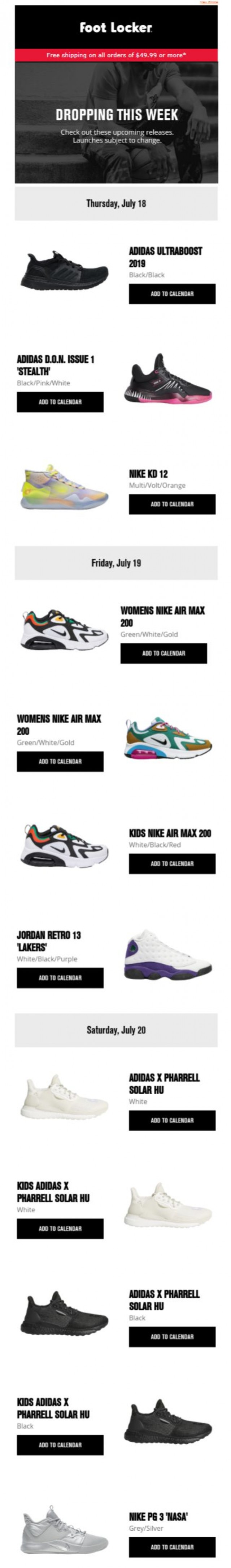 Coupon for: Foot Locker - Don't miss out on the newest drops