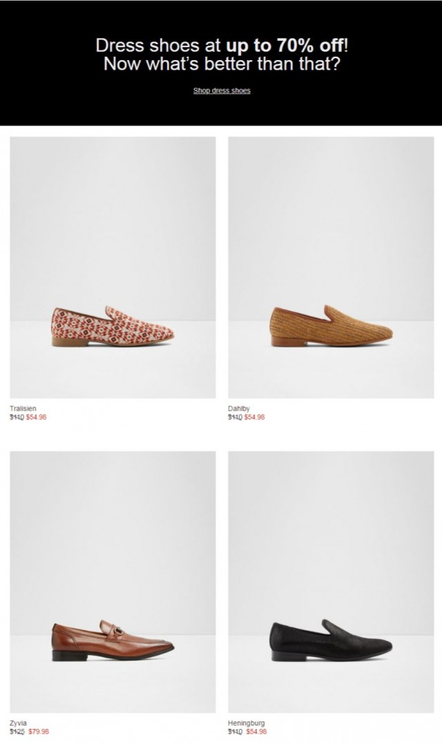 Coupon for: ALDO - Don't miss your chance to save up to 70% now!