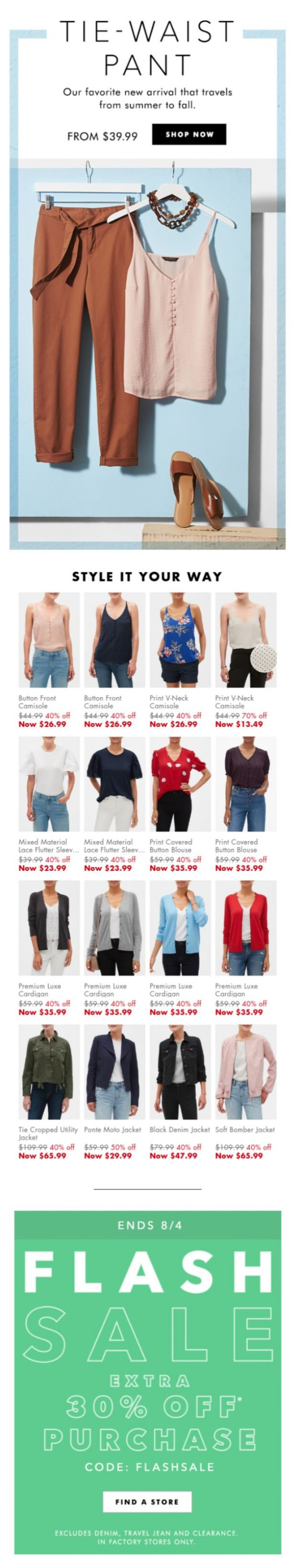 Coupon for: Banana Republic Factory - Your summer-to-fall pant is here