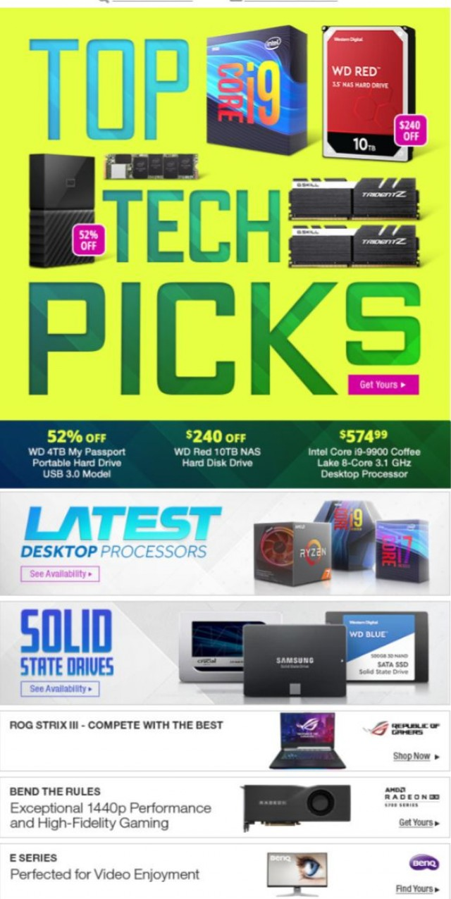Coupon for: Newegg.ca - Top Tech Picks: 52% OFF WD 4TB My Passport Portable Hard Drive & More