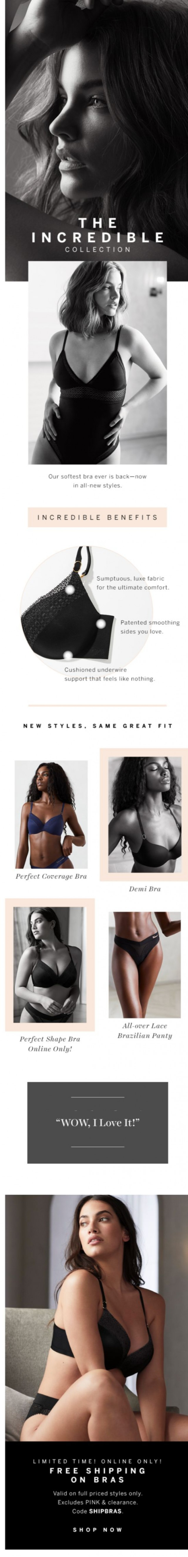 Coupon for: Victoria's Secret - One INCREDIBLE bra, so many things to love