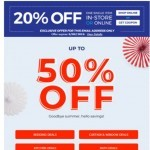 Coupon for: Bed Bath & Beyond - You're invited to get up to 50% OFF this Labour Day!