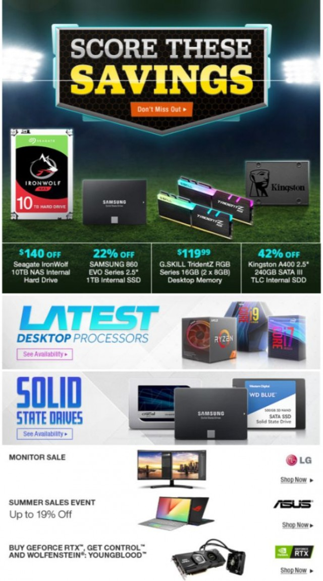 Coupon for: Newegg - Score These Savings