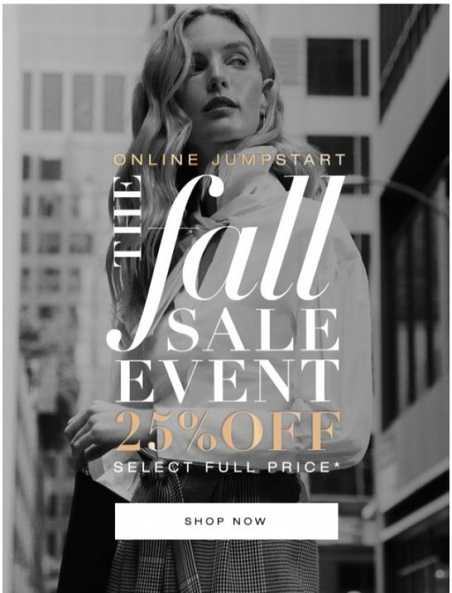 Coupon for: BCBGMAXAZRIA - It's FINALLY here – the Fall Sale Event