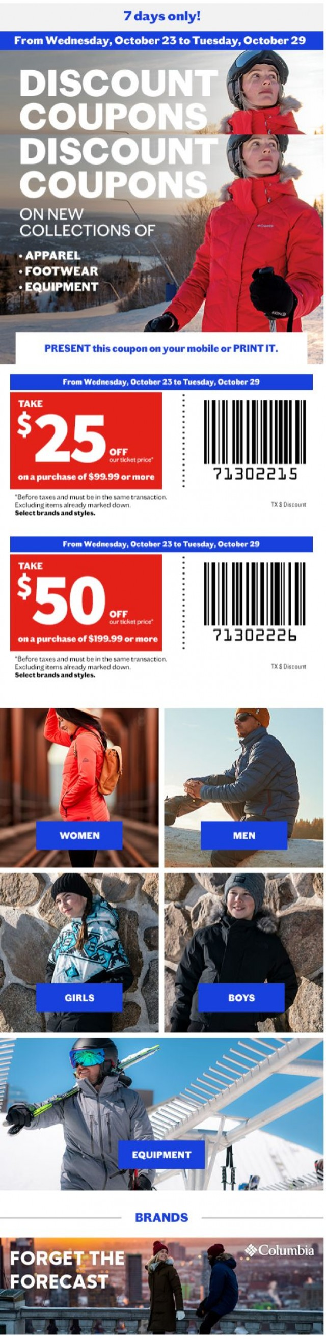 Coupon for: Sports Experts - Discount coupons on new collections