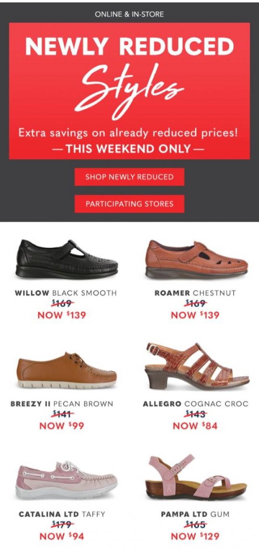 Coupon for: SAS, San Antonio Shoemakers, Inc. - Luxury Styles & Big Savings