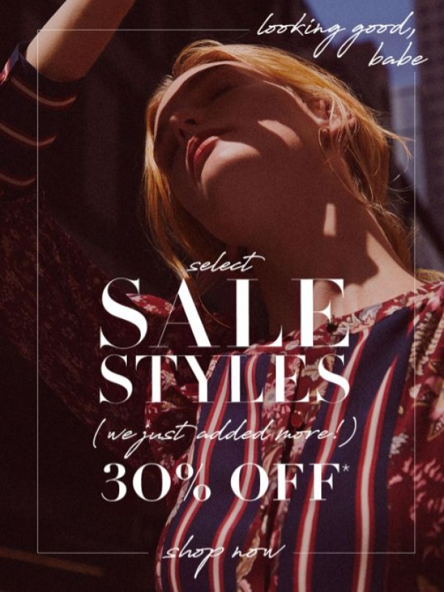 Coupon for: BCBGMAXAZRIA - A Treat For You: EXTRA 30% Off Select Sale
