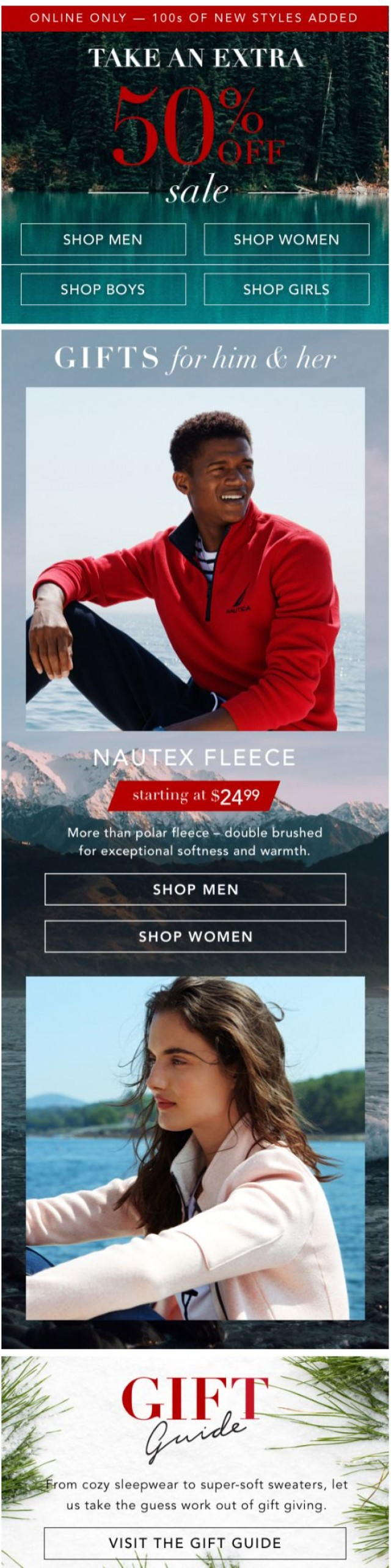 Coupon for: Nautica - Take an extra 50% off sale