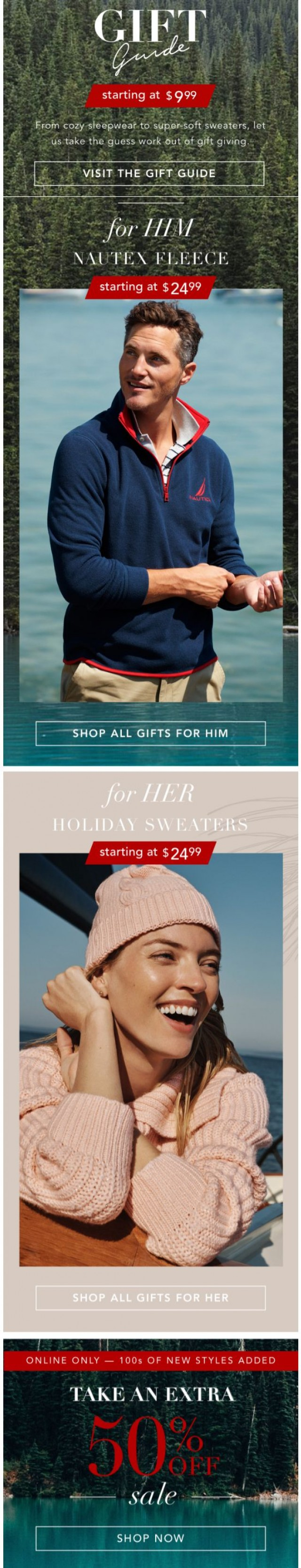 Coupon for: Nautica - Gift-giving made easy: Our Gift Guide is here