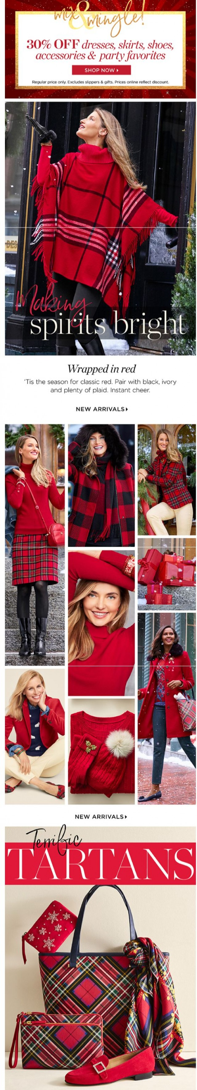 Coupon for: TALBOTS - Just in! Festive new arrivals for the holiday season.