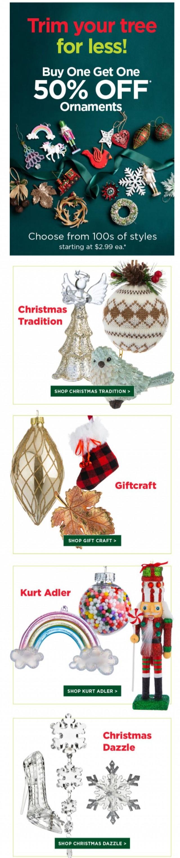 Coupon for: Kitchen Stuff Plus - BOGO Ornaments? Check.