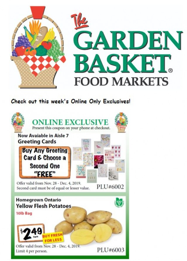 Coupon for: The Garden Basket - This Week's ONLINE EXCLUSIVES!
