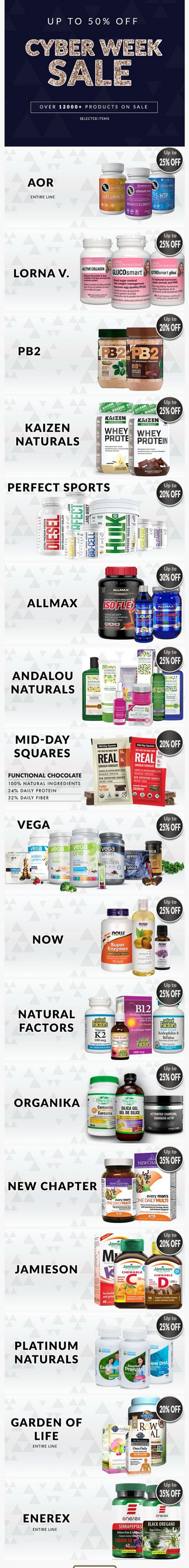 Coupon for: Healthy Planet - Cyber Week Sale is Here! Up to 50% OFF! Over 12,000+ Products on SALE