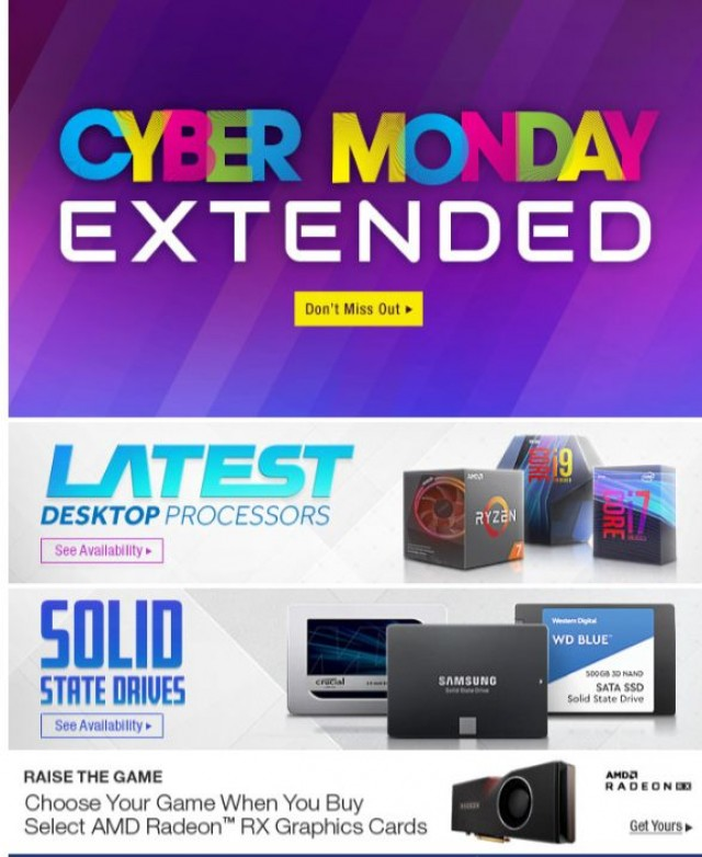 Coupon for: Newegg - Cyber Monday Extended: Deals on Samsung Storage & BenQ Monitors