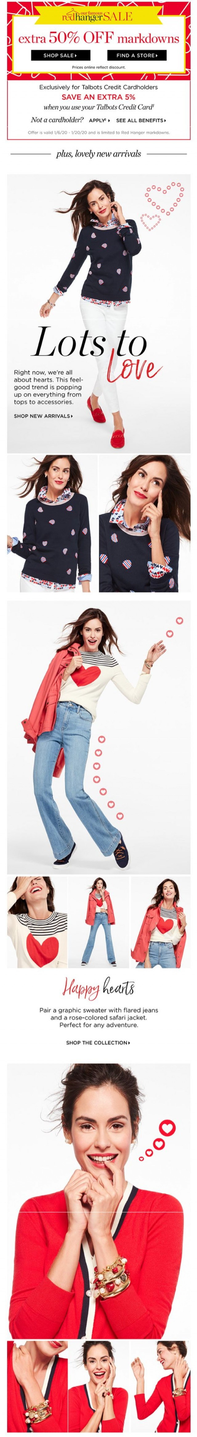 Coupon for: Talbots - A fresh NEW COLLECTION to ❤