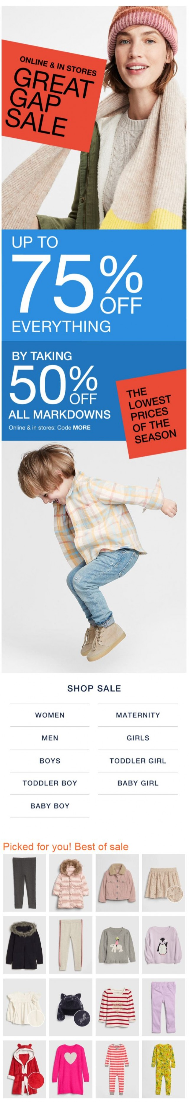 Coupon for: Great Gap Sale - SALE. ON. SALE.
