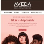 Coupon for: Aveda - Hydrate hair with NEW nutriplenish