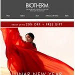 Coupon for: Biotherm - Enjoy up to 20% OFF on Bestsellers + Free Gift