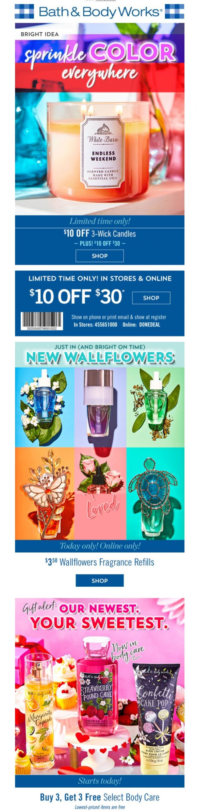 Coupon for: Bath & Body Works - Bright idea!