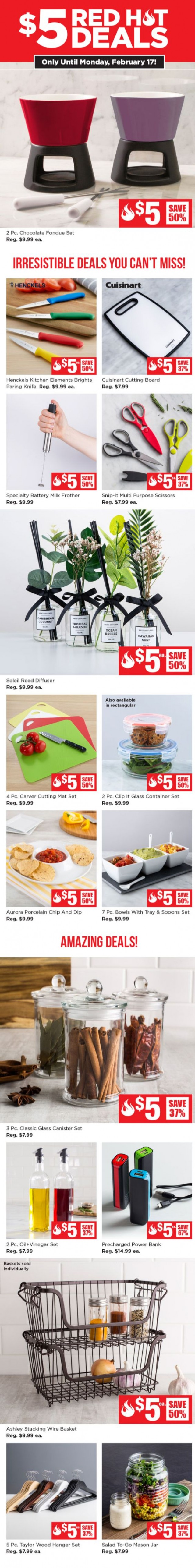 Coupon for: Kitchen Stuff Plus - $5 Red Hot Deals